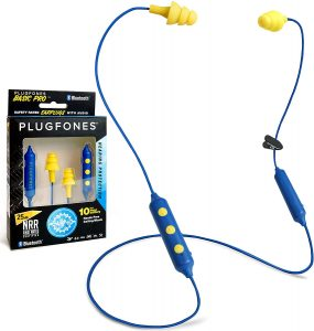 5 Plugfones Basic Pro Wireless Bluetooth in-Ear Earplug Earbuds Whenever it comes to the best headphones or earplugs, Plugfones is the first to win any competition. Plugfones has not only made the best headphones or earplugs, but it has also won the game of headphones that look like earplugs. This is another version of Plugfones earbuds included in our top 10 list of best headphones that look like earplugs. A few features of this version varies from the other one. Let's see what it is. With auto sync, the headphones automatically connect to the device when near or in the bluetooth range. It has an embedded speaker in a silicone based covering that fits in the ear not only handily but comfortably. There are two color choices in these headphones, yellow and blue. Yellow, being the top seller, is also our favourite. Such a color gives happy vibes and makes the mind relax already, even before plugging it in. Liberate 2.0 has 12 hours of battery timing, but this one has only 10 hours, which is the quality it runs short on. Also, it doesn't have interchangeable earmuffs. However, these are cheaper than the Liberate version. And price speaks for what you get. At this price, it is the best! Pros: Color choice Auto sync Embedded speaker Budget friendly headphones that look like earplugs Comfortable to wear Fits in the ear nicely Noise isolation Moisture resistant Cons: When compared to Plugfones Liberate 2.0, it lacks some features.